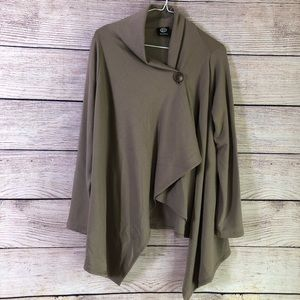Bobeau Super Soft Taupe Cardigan Wrap